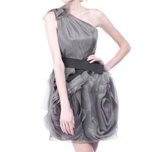 White by Vera Wang One Shoulder Organza Dress
